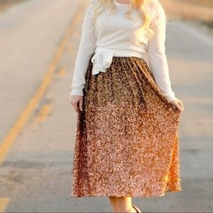 Lauren Conrad Ombré Sequenced Skirt